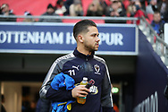 AFC Wimbledon attacker Harry Forrester (11) walking onto pitch during the The FA Cup 3rd round match between Tottenham Hotspur and AFC Wimbledon at Wembley Stadium, London, England on 7 January 2018. Photo by Matthew Redman.
