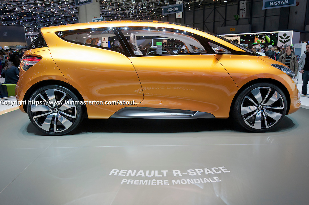 Renault R-Space concept at the Geneva Motor Show 2011 Switzerland