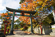 Japan, Tochigi, Nikko, Torii the entrance gate to the national park