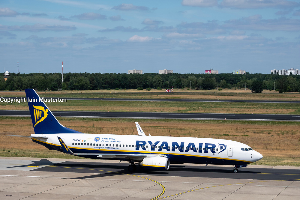 Ryanair passenger aircraft at Tegel Airport in Berlin, Germany