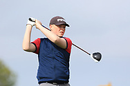 Rory Fives (Faithlegg) on the 1st tee during Round 2 of the Connacht U16 Boys Amateur Open Championship at Galway Bay Golf Club, Oranmore, Galway on Wednesday 17th April 2019.<br /> Picture:  Thos Caffrey / www.golffile.ie