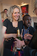 ALEXANDRA DAVIDSON; ORLANDO HAMILTON, Party given by Basia Briggs and Richard Briggs at their home in Chelsea. London. 14 May 2012