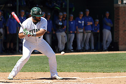 11 April 2015: Pat Mollo during an NCAA division 3 College Conference of Illinois and Wisconsin (CCIW) Pay in Baseball game during the Conference Championship series between the Millikin Big Blue and the Illinois Wesleyan Titans at Jack Horenberger Stadium, Bloomington IL