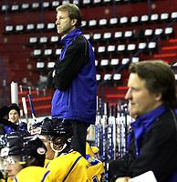 Ishockey<br /> GET-Ligaen<br /> Treningskamp<br /> 03.09.09<br /> Jordal Amfi<br /> Vålerenga VIF - Storhamar Dragons<br /> Trener ne Rune Gulliksen og Ole Eskild Dahlstrøm<br /> Foto - Kasper Wikestad