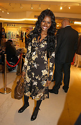 JUNE SARPONG at the launch of Roberto Cavalli Vodka held in the International Designer Room, Harrods, Hans Crescent, London on 5th December 2006.<br /><br />NON EXCLUSIVE - WORLD RIGHTS
