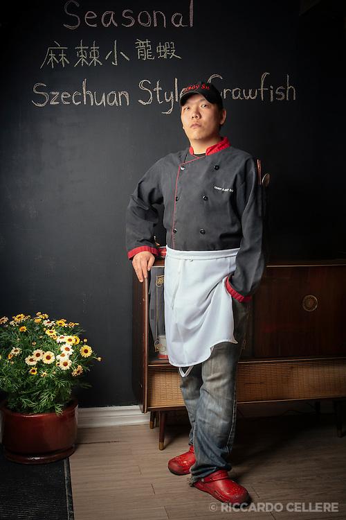 Portrait photography. Chef Andy Su, Restaurant Gia Ba. 2014.