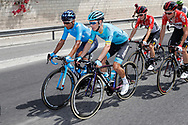 Nairo Quintana (COL - Movistar), Miguel Angel Lopez (COL - Astana Pro Team) during the UCI World Tour, Tour of Spain (Vuelta) 2018, Stage 3, Mijas - Alhaurin de la Torre 178,2 km in Spain, on August 27th, 2018 - Photo Luis Angel Gomez / BettiniPhoto / ProSportsImages / DPPI