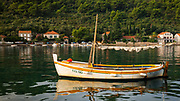Fishing boat in the bay at Sipanska Luka, Sipan Island, Dalmatian Coast, Croatia