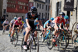 Emilia Fahlin (SWE) at La Flèche Wallonne Femmes 2018, a 118.5 km road race starting and finishing in Huy on April 18, 2018. Photo by Sean Robinson/Velofocus.com