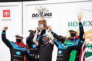 January 30-31, 2021. IMSA Weathertech Series. Rolex Daytona 24h:  #48 Ally Cadillac Racing, Cadillac DPi, Kamui takes a photo of, Jimmie Johnson, Kamui Kobayashi, Simon Pagenaud, Mike Rockenfeller