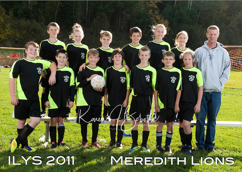 Inter Lakes Youth Soccer League Meredith Lions Team October 15, 2011.