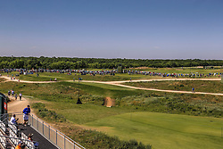 May 18, 2018 - Dallas, TX, U.S. - DALLAS, TX - MAY 18: A overall view from the 360 degree viewing tent during the second round of the 50th AT&T Byron Nelson on May 18, 2018 at the Trinity Forest Golf Club in Dallas, Texas. (Photo by Matthew Pearce/Icon Sportswire) (Credit Image: © Matthew Pearce/Icon SMI via ZUMA Press)
