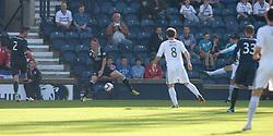 Raith Rovers Grant Anderson (11) scoring their goal.<br /> Half time : Raith Rovers 1 v 0 Falkirk, Scottish Championship 28/9/2013.<br /> ©Michael Schofield.
