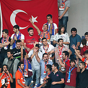 Turkey's supporters during their UEFA 2013 Woman's Euro Qualifying Group Stage Group 2 soccer match Turkey betwen Spain at Kasimpasa Recep Tayyip Erdogan stadium in Istanbul September 17, 2011. Photo by TURKPIX