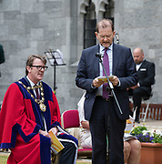 08/07/2018  repro  free:   Mayor of Galway Cllr. Niall McNelis  and Tom  Connell Galway city council  at The National Day of Commemoration Ceremony at NUI Galway in honour of all those Irishmenand Irish Women whooped in pastors or on Service with the UN.Photo:Andrew Downes, XPOSURE