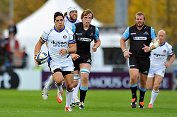Horacio Agulla of Bath Rugby goes on the attack - Photo mandatory by-line: Patrick Khachfe/JMP - Mobile: 07966 386802 18/10/2014 - SPORT - RUGBY UNION - Glasgow - Scotstoun Stadium - Glasgow Warriors v Bath Rugby - European Rugby Champions Cup