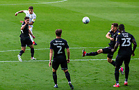 Leeds United's Ben White scores the opening goal \<br /> <br /> Photographer Alex Dodd/CameraSport<br /> <br /> The EFL Sky Bet Championship - Leeds United v Charlton Athletic - Wednesday July 22nd 2020 - Elland Road - Leeds <br /> <br /> World Copyright © 2020 CameraSport. All rights reserved. 43 Linden Ave. Countesthorpe. Leicester. England. LE8 5PG - Tel: +44 (0) 116 277 4147 - admin@camerasport.com - www.camerasport.com