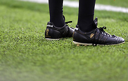 Detailed view of grass by the linesman's boots