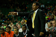 WACO, TX - JANUARY 3: Savannah State Tigers head coach Horace Broadnax looks on against the Baylor Bears on January 3, 2014 at the Ferrell Center in Waco, Texas.  (Photo by Cooper Neill) *** Local Caption *** Horace Broadnax