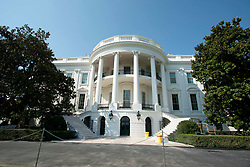 High Resolution view of the newly renovated steps on the South Portico of the White House in Washington, DC, USA, on Tuesday, August 22, 2017. Photo by Ron Sachs/CNP/ABACAPRESS.COM