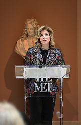 Caroline Kennedy speaks at the Press Preview of Rei Kawakubo/Comme des Garcons: Art of the In-Between exhibit at The Costume Institute at the Metropolitan Museum of Art on May 1, 2017 in New York, New York, USA.  *** Please Use Credit from Credit Field ***