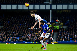 Ben Davies of Tottenham Hotspur beats Theo Walcott of Everton to a header - Mandatory by-line: Robbie Stephenson/JMP - 23/12/2018 - FOOTBALL - Goodison Park - Liverpool, England - Everton v Tottenham Hotspur - Premier League