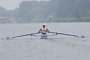 2006, U23 Rowing Championships,Hazewinkel, BELGIUM Saturday, 22.07.2006. GBR BLM1X, Adam FREEMAN-PASK,  Photo  Peter Spurrier/Intersport Images email images@intersport-images.com..[Mandatory Credit Peter Spurrier/ Intersport Images] Rowing Course, Bloso, Hazewinkel. BELGUIM