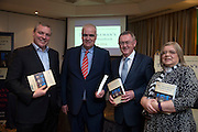 NO FEE PICTURES<br /> 20/1/16  Noel Whelan with Paddy Power (left), Sean O'Rourke and Kathryn Marsh at the launch of his book, The Tallyman's Campaign Handbook at the Alexander Hotel in Dublin. Picture: Arthur Carron