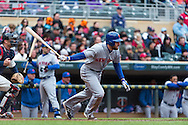 Daniel Murphy #28 of the New York Mets on April 13, 2013 at Target Field in Minneapolis, Minnesota.  The Mets defeated the Twins 4 to 2.  Photo: Ben Krause