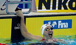 HANGZHOU, Dec. 12, 2018  Katinka Hosszu of Hungary celebrates after Women's 200m Butterfly Final at 14th FINA World Swimming Championships (25m) in Hangzhou, east China's Zhejiang Province, on Dec. 12, 2018. Katinka Hosszu claimed the title with 2 minutes 1.60 seconds. (Credit Image: © Xinhua via ZUMA Wire)