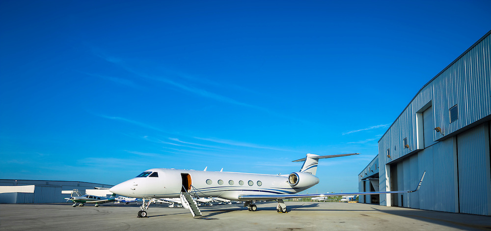 2001 Gulfstream G-V at Fontaiinebleau Aviation in Opa-locka, Florida.