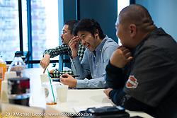 Harley-Davidson design team members visit to Harley-Davidson Japan's headquarters. Tokyo, Japan. Tuesday, December 9, 2014. Photograph ©2014 Michael Lichter.