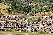 Nederland, Friesland, Vlieland, 28-02-2016; Oost-Vlieland met Dorpsstraat, Achteromweg en Kerkplein.<br /> Wadden island Vlieland and Oost-Vlieland village, Wadden sea. <br /> luchtfoto (toeslag op standard tarieven);<br /> aerial photo (additional fee required);<br /> copyright foto/photo Siebe Swart