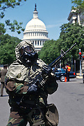 Chemical weapons terrorism drill at the US Capitol in Washington, DC.