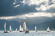 Last day of Menai Strait regatta 2017. Beaumaris courses. These images were taken whilst being filmed for the new ITV Wales sries, 'The Strait' to be broadcast in Januray 2018.<br /> <br /> Slam Media / Cread Cyf production for ITV Wales 2017