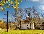 Łopienka, 2018-10-12 (woj.podkarpackie). Grekokatolicka cerkiew św. Męczennicy Paraskewii w Łopience.