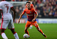 Matt Grimes of Northampton Town in action .EFL Skybet football league one match, MK Dons v Northampton Town at the Stadium MK in Milton Keynes on Tuesday 26th September 2017.<br /> pic by Bradley Collyer, Andrew Orchard sports photography.