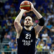 Anadolu Efes's Ermal Kurtoglu during their Turkish Basketball league derby match Fenerbahce Ulker between Anadolu Efes at the Ulker Sports Arena in Istanbul, Turkey, Monday, April 29, 2013. Photo by Aykut AKICI/TURKPIX