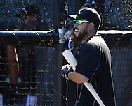 CHICAGO - JUNE 29:  Dioner Navarro #27 of the Chicago White Sox looks on during batting practice prior to the game against the Minnesota Twins on June 29, 2016 at U.S. Cellular Field in Chicago, Illinois.  (Photo by Ron Vesely) Subject:    Dioner Navarro