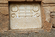 Columbarios Roman burial ground funerary mausoleums family memorial monument, Merida, Extremadura, Spain