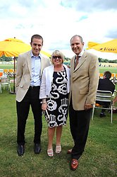 Left to right, JAMES BOYES and his parents MICHELLE BOYES and GRAHAM BOYES MD of Veuve Clicquot UK at the 2008 Veuve Clicquot Gold Cup polo final at Cowdray Park Polo Club, Midhurst, West Sussex on 20th July 2008.<br /> <br /> NON EXCLUSIVE - WORLD RIGHTS