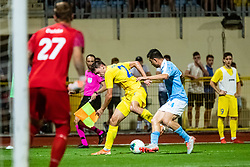 Matej Podlogar of NK Domzale during Football match between NK Domzale and Malmo FF in Second Qualifying match of UEFA Europa League 2019/2020, on July 25th, 2019 in Sports park Domzale, Domzale, Slovenia. Photo by Grega Valancic / Sportida