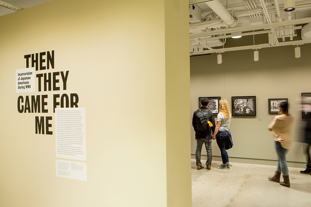 """""""Then They Came for Me"""", an exhibit of photographs of the Japanese internment camps during World War II."""