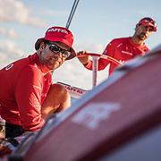 Leg 4, Melbourne to Hong Kong, day 10 on board MAPFRE, Pablo Arrarte. Photo by Ugo Fonolla/Volvo Ocean Race. 11 January, 2018.