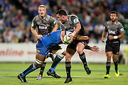 Kieran Read © of the BNZ Crusaders is help up in a tackle during the Canterbury Crusaders v the Western Force Super Rugby Match. Nib Stadium, Perth, Western Australia, 8th April 2016. Copyright Image: Daniel Carson / www.photosport.nz
