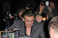LONDON - FEBRUARY 13: Jamie Campbell-Bower attends the public relations disaster that was the outside arrivals at the ELLE Style Awards at the Savoy Hotel, London, UK on February 13, 2012. (Photo by Richard Goldschmidt)