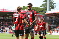 Football - 2021 / 2022 EFL Cup - Round 1 -AFC Bournemouth vs. MK Dons - <br /> <br /> Bournemouth's David Brooks celebrates scoring with Bournemouth's Philip Billing during the EFL cup match at the Vitality Stadium (Dean Court) Bournemouth <br /> <br /> COLORSPORT/Shaun Boggust