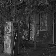 Ruined Hotel & Old Bowser, Gymbowen<br /> <br /> Constructed in 1890 and later incorporating a general store and a post office, the now abandoned, over-grown hotel and bowser at Gymbowen is a relic of better days in the Wimmera region of Western Victoria