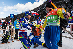 Gros Baptiste of France with fans during Mans 1.2 km Free Sprint race at FIS Cross Country World Cup Planica 2016, on January 16, 2016 at Planica, Slovenia. Photo By Grega Valancic / Sportida