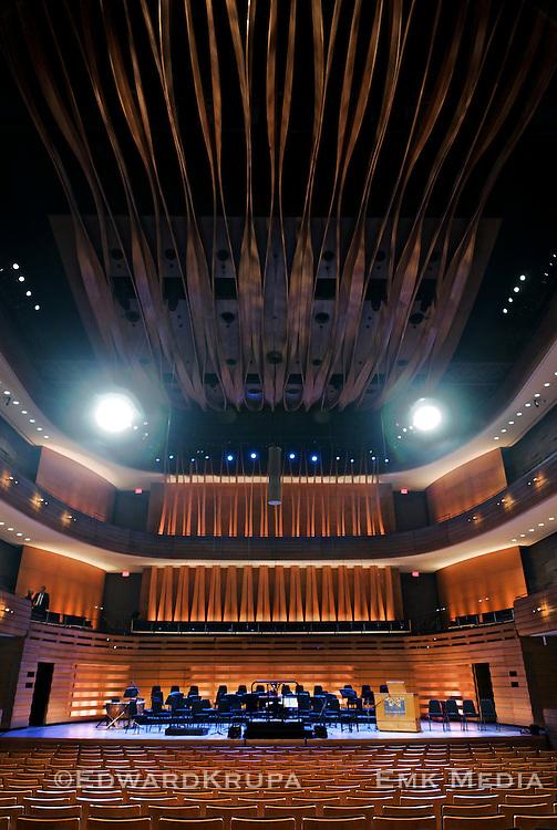 Interior of Koerner Hall in Toronto, Ontario, Canada.